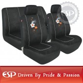 #26186 Full set 6 pcs universal fit Blooms Suede car seat cover