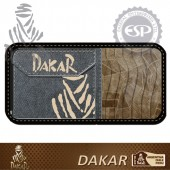 #DK30119 Leather fabric Dakar Licensed CD Holder CD Visor