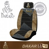#DK30121 Dakar Licensed Leather with Mesh fabric Car Seat cover