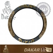 #DK30106 Dakar Licensed Leather car Steering wheel cover