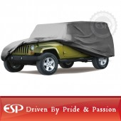 #65141 Premium Wrangler CJ,TJ,JK Polyproplene 4 layer GRAY Jeep cover