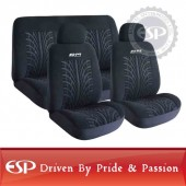 #21102 Full set 6 jpcs Road Master Universal fit Velour Car Seat Cover Language Option  French