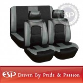#21812 Full set 6 pcs Seaton Universal fit Sporty Leather and mesh car seat cover