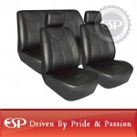 #21182 Full set 6 pcs Daytona Universal fit Simulated leather Car Seat Cover